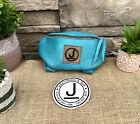 Pommel Bag Leather Handmade, Saddle Sak,Pommel Pocket, Teal SM, Trail Bag