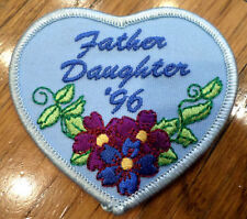 Girl Scouts Vintage Uniform Patch Father Daughter Dance 1996 Flowers Heart