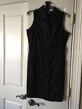 New MICHAEL MICHAEL KORS BUTTON FRONT BELTED WAIST Black DRESS 8 MSRP $140