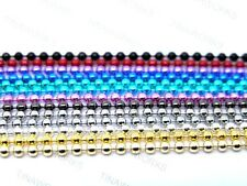 70cm Coloured Anodized Metallic Ball Chain 1.5mm 2.4mm Craft Findings Necklace