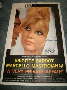 A VERY PRIVATE AFFAIR(1962)BRIGITTE BARDOT ORIINAL ONE SHEET POSTER