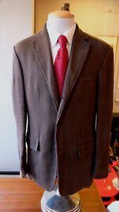 Polo Ralph Lauren Sport Coat Brown Linen 40R (See Measurements) 3R2 1V Italy