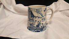 James Kent Old Foley Staffordshire Ceramic Mugs Cobalt Blue