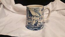 James Kent Old Foley Staffordshire Ceramic Mugs Cobalt Blue