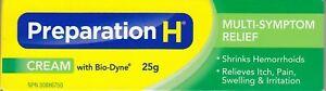 Canada PREPARATION H CREAM Bio Dyne Multi Symptom Relief 25g Fresh Exp 2023+++