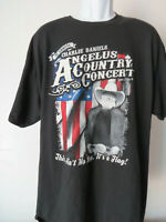 vtg CHARLIE DANIELS  BAND ANGELUS COUNTRY CONCERT t- shirt tee Black xxl 2xl