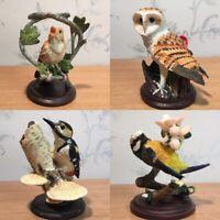 Collectable Birds Figurines - Barn Owl | Woodpecker | Blue Tit | Brown Bird