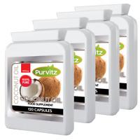 Organic Virgin Coconut Oil 1000mg Capsules Softgels Made UK Purvitz