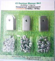 Messer Ersatzmesser mit Schrauben Mähroboter Gardena® R40Li R45Li R70Li 45 St.