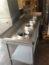 "102""  Shrimp Seafood Processing Table Stainless Industrial Farming Sorting"