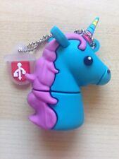 1 New Cute Novelty Blue Unicorn, 4GB USB Flash Drive Memory Stick