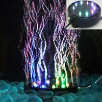 9 LED 10.5CM Aquarium Fish Tank Air Curtain Bubble Stone Disk Multi-color Light