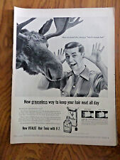 1955 Vitalis Hair Tonic with V-7 Ad How to avoid Dry Shaggy North-Woods Hair