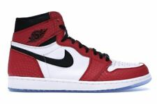 "Men's Nike Air Jordan Retro 1 High OG ""Spider Man"" Athletic Fashion 555088 602"
