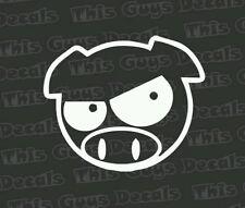 angry pig subaru jdm drifting car truck suv window sticker outdoor decal vinyl