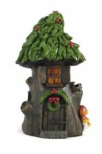 "Christmas in the Woods Fairy House with Holly Roof 5-1/2"" Holiday Wreath Darice"