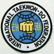 "New Itf(International TaekwonDo Federation) Patch for Taekwondo Uniform-4"""