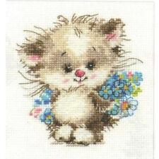 Alisa Cross Stitch Kit-a Mi Gato Favorito