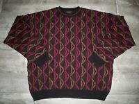 Vtg Protege Men's Sweater Hip Hop Biggie 3D Wearable Art Ugly Multi-Color XLarge