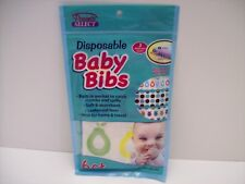 Disposable Baby Bibs 6 count by Parents Select  w/ Built In Pocket- New/Sealed