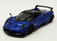 Pagani Huayra - Blue - Kinsmart Pull Back & Go Diecast Metal Model Car