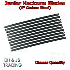 "6"" Junior Hacksaw Saw Blades Carbon Steel Replacement 150mm - Select Quantity"