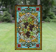 """34.5/""""L x 18.5/""""H Half Round Handcrafted stained glass window Glass panel"""