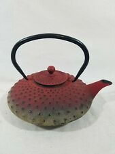 Cast Iron Tea Kettle Kitchen Collectible Pot Heavy Metal Ware - Used