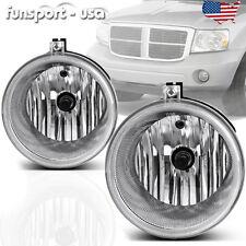for Chrysler Aspen 300 SRT8 Clear Lens Bumper Fog Light Driving Lamp+Bulbs Pair