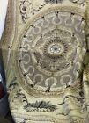 Vtg Aubusson Hand Woven Rug Wall Tapestry Neoclassical 7.5'x9.5' Gold Brown Gray