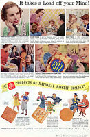1938 Vintage Print Ad of NBC National Biscuit Company Ritz Crackers