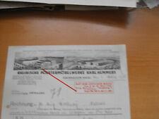 Oberhausen alte Rechnung Rheinische Polstermöbelwerke 1938 Litho
