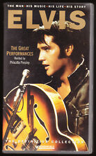 ELVIS - THE GREAT PERFORMANCES - 92 MINS - MAN, MUSIC, LIFE, STORY - VHS VIDEO