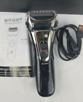 USB Rechargeable Electric Shaver, Cordless Foil Shaver, LCD, Quick Charging