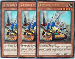 X3 YUGIOH GEARGIARSENAL REDU-EN029 1st EDITION RARE
