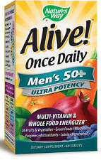 Alive! Once Daily Ultra Potency Men's 50+ - 60 Tablets - Nature's Way
