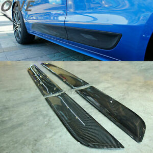 4 PCS for 14+ Porsche MACAN SUV Carbon Fiber Side Door Panel Moulding Trim Plate