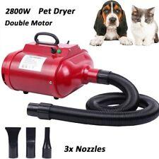 More details for 2800w pet dryer dog grooming hair dryer hairdryer blaster heater double motor