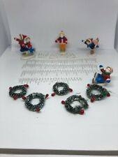 Christmas Village Accessories - Wreaths, and People