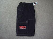 Logotipo bordado de Kiss Bermudas Oficial BNWT Raro Gene Simmons Rock Band