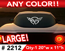 "CORVETTE C5  X-LARGE CAR OR WALL DECAL STICKER 20""w x 11""h ANY 1 Color"