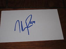THEO PECKHAM AUTOGRAPHED 3X5 INDEX CARD-OILERS- FALCONS