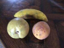 "vintage Stonefruit Stone Fruit ""Peach Apricot Banana� folk art"