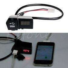 Motorcycle USB Voltmeter GPS Cell Phone Voltage Power Socket Charger Waterproof