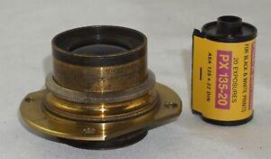 Voigtlander Collinear Series II No. 3 f5.6 Early Brass Lens