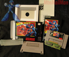 Mega Man X7 VII SNES CIB Authentic Cart VGC - W/ HQ Custom Box & Manual + Tray