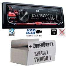 JVC Auto Radio für Renault Twingo 1 MP3 USB 4x50Watt PKW Set Autoradio Android