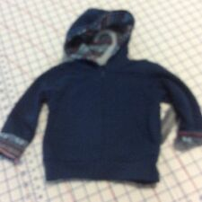 Hoodie Knit Zip Front  Navy Jacket Top Infant Size 6-9 Months
