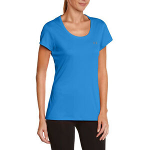 Under Armour Camiseta de Mujer Ua Heatgear Azul Flyweight SPORTS Atletismo XS