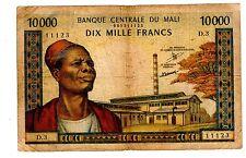 MALI Billet 10000 Francs ND 1970 - 1984 P15 HOMME AVEC FEZ  WEAVER D.3  BON ETAT